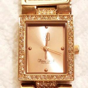 Victoria Wieck Rose Gold Tone Watch Bracelet